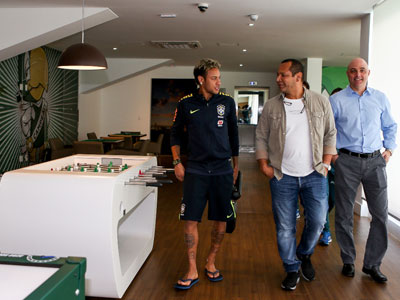 Mauricio Galiotte e Neymar