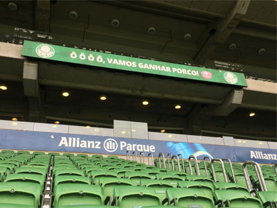 Painel de led no Allianz Parque