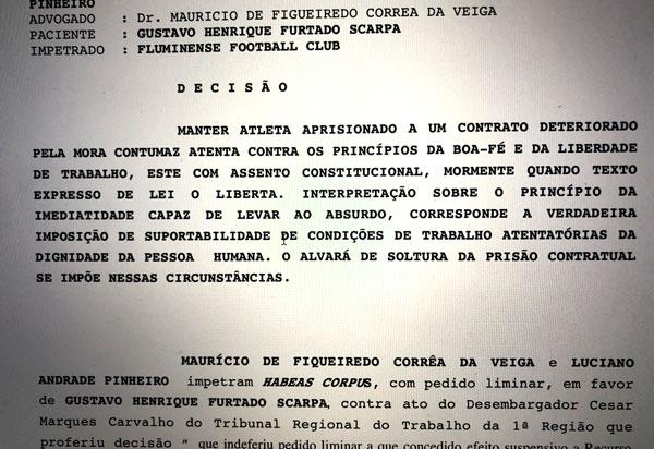 habeas corpus Scarpa