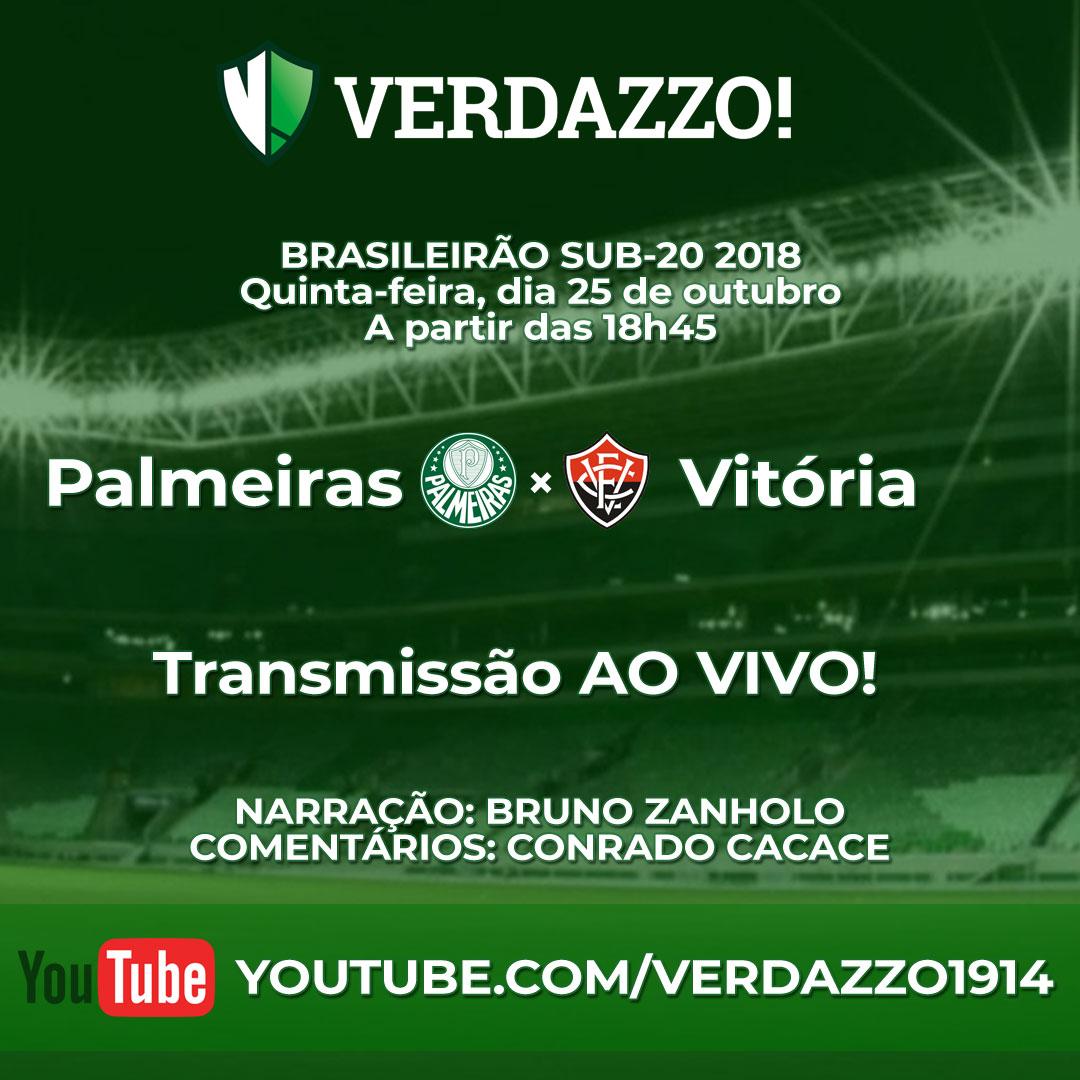 Transmissão Palmeiras x Vitória Sub-20