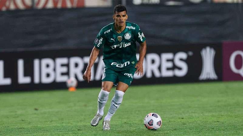 Danilo Barbosa em campo pelo Palmeiras