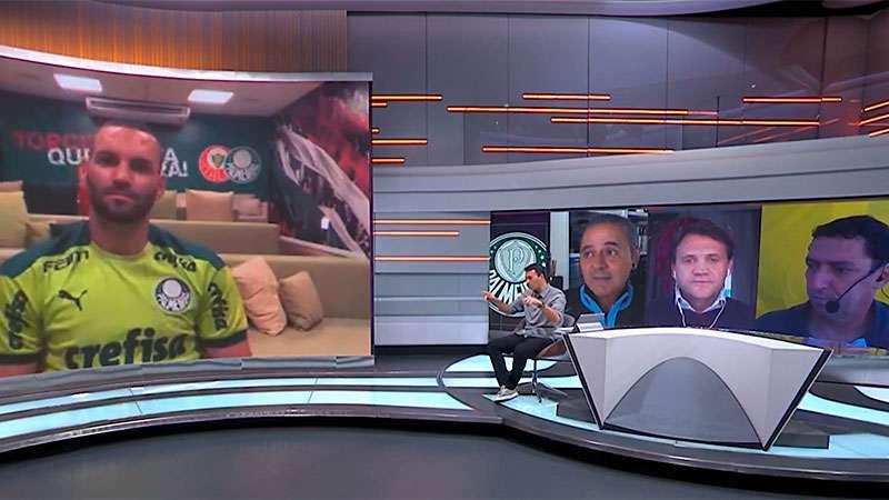 Weverton concede entrevista ao SporTV