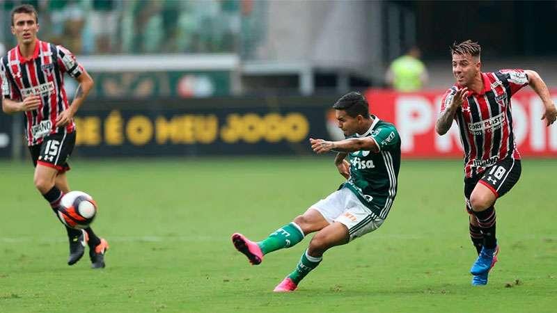 Dudu faz golaço por cobertura no SPFC em 2017, no Allianz Parque