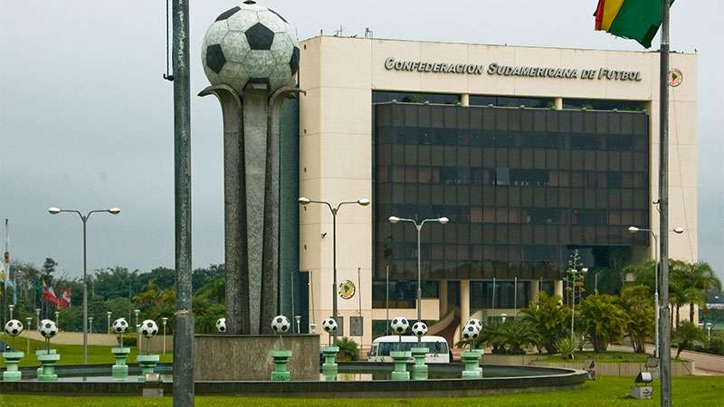 Sede da Conmebol, em Asunción, Paraguai