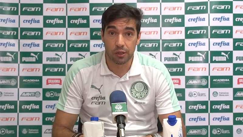 Abel Ferreira concede entrevista coletiva após a vitória do Palmeiras sobre o CRB
