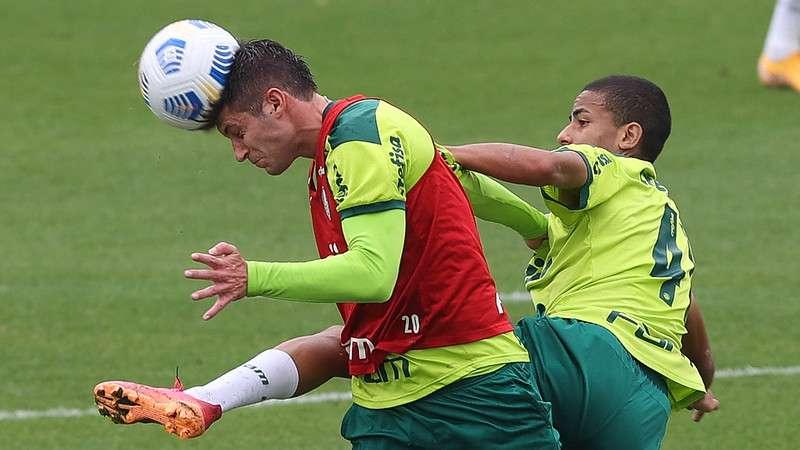 Elenco do Palmeiras treinou na Academia de Futebol; Kuscevic foi uma das novidades.