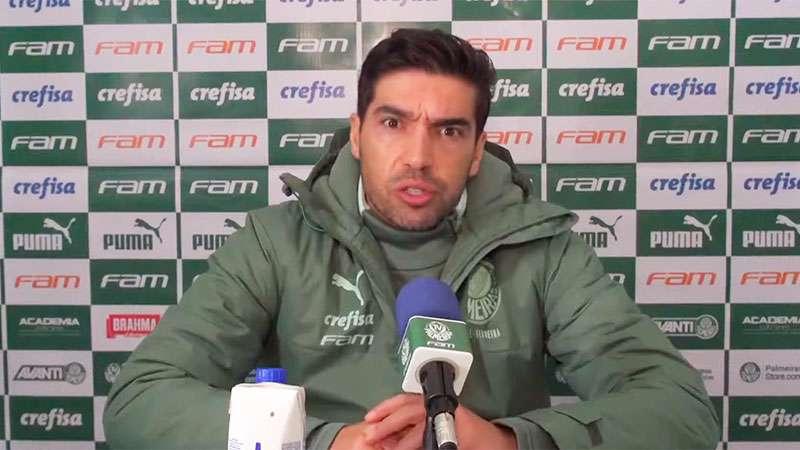 Abel Ferreira concede entrevista coletiva após partida do Palmeiras contra o Red Bull Bragantino