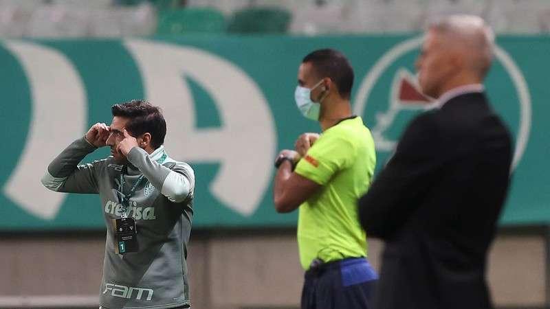 Abel Ferreira, técnico do Palmeiras, durante partida contra o SPFC pela Libertadores