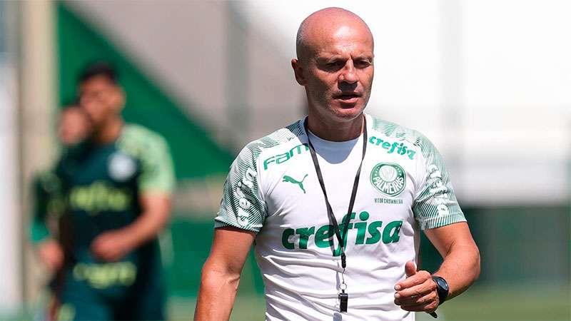 Vitor Castanheira comandará o Palmeiras na partida contra o Cuiabá