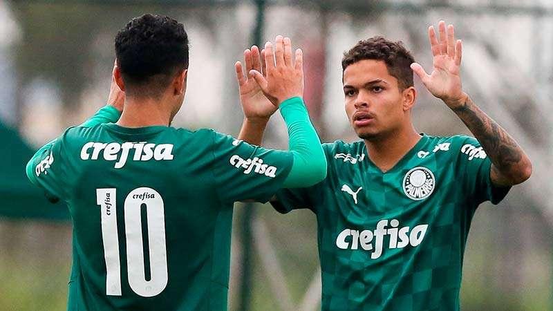 Caio Cunha e Bruno Menezes marcaram pela equipe Sub-20 do Palmeiras, na goleada contra o VOCEM, pelo Campeonato Paulista da categoria.