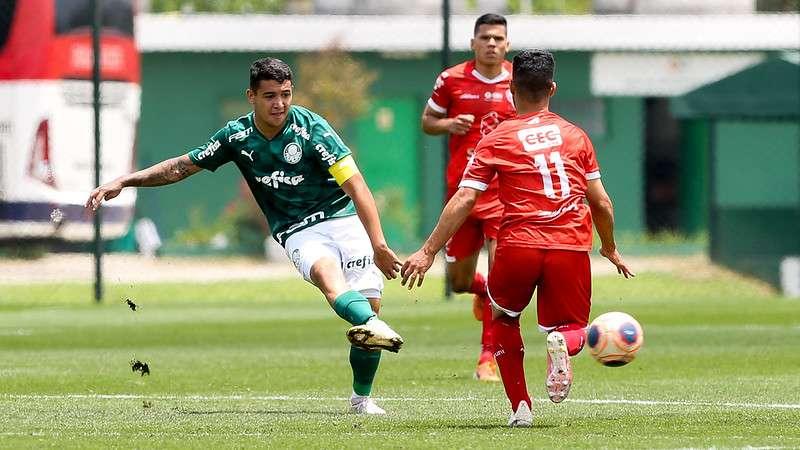 Palmeiras e Audax em partida válida pela segunda rodada da segunda fase do Campeonato Paulista Sub-20, na Academia de Futebol 2, em Guarulhos-SP.